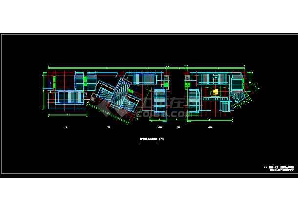 两层仿古商业楼建筑施工图纸-图2