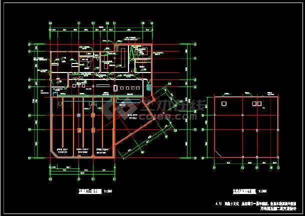 两层仿古商业楼建筑施工图纸-图3