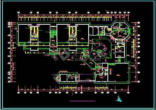 前海花园高档幼儿园全套平立面建筑设计图-图1