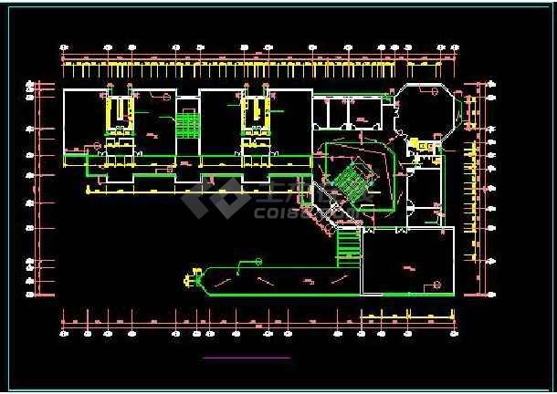 前海花园高档幼儿园全套平立面建筑设计图-图2