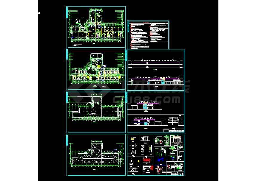 某地小渡假村宾馆建筑CAD图(节点详细)-图3