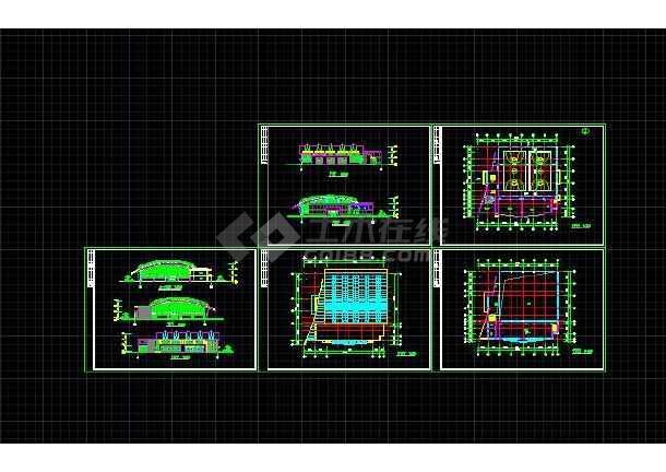 某学校全套体育馆图纸建筑设计图纸私人网方案钢筋面图片