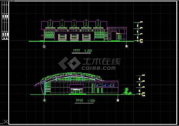 某私人图纸体育馆图纸建筑设计机砖全套切学校方案图片