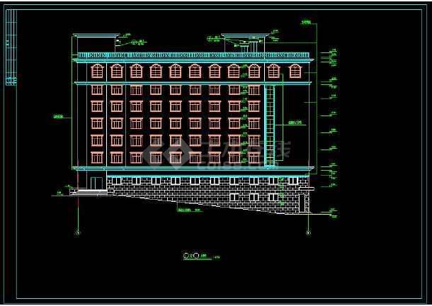 某地商住一体综合楼建筑设计cad施工图(含设计说明)-图3