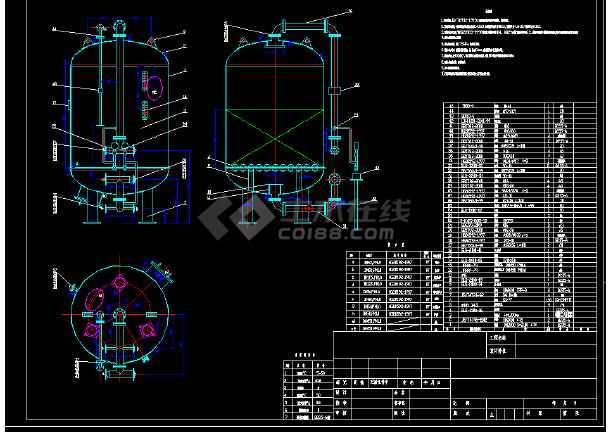 φ2000多介质多介质过滤器制作详图-图1