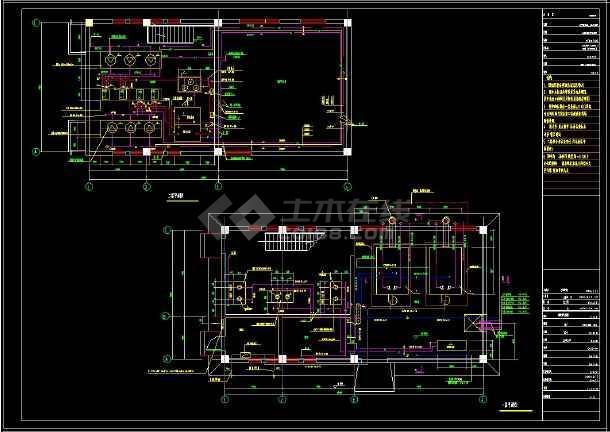 某住宅小区供热锅炉房建筑cad设计施工图纸(含设计说明)-图2
