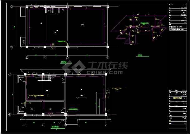 某住宅小区供热锅炉房建筑cad设计施工图纸(含设计说明)-图3