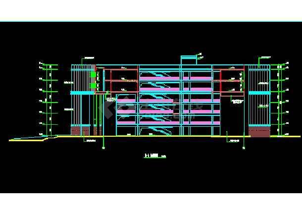 某职业技术学院建筑施工CAD图纸-图1