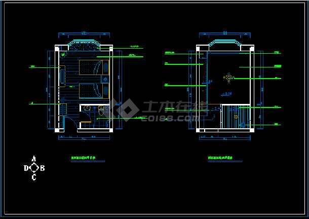 电厂室内装饰装修cad施工设计方案图纸