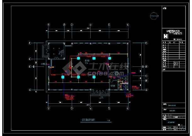 某中学整套暖通设计cad施工方案图(含设计说明)-图1