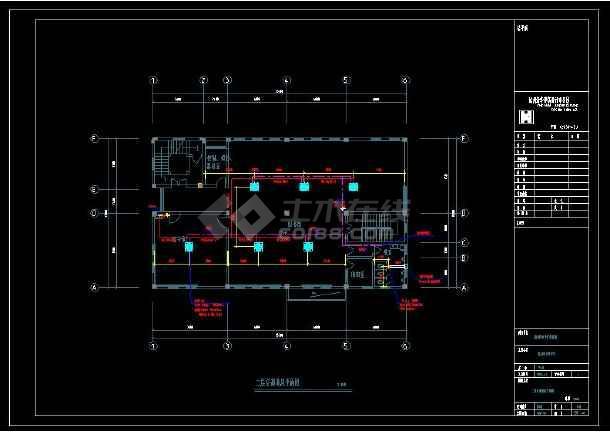 某中学整套暖通设计cad施工方案图(含设计说明)-图2