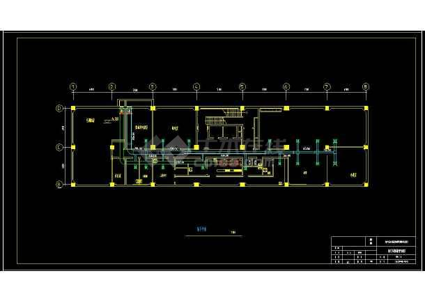 某地商业综合楼暖通空调设计cad施工方案图-图3