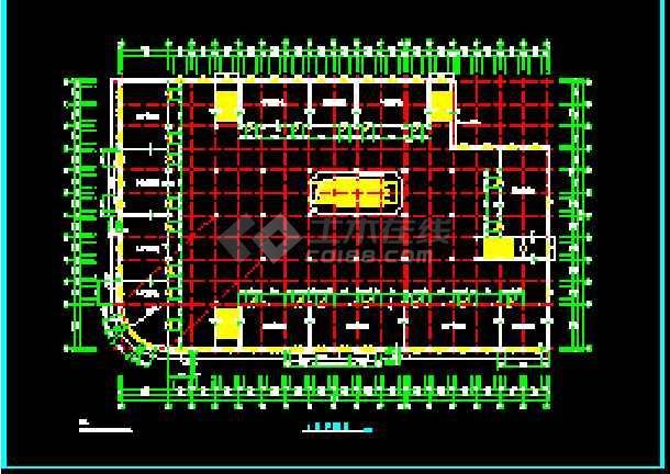 某小型商场建筑设计施工cad设计图