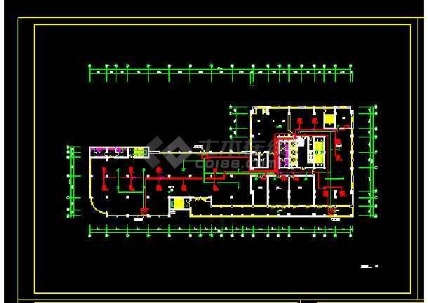 某别墅小区住宅暖通空调设计CAD图-图1
