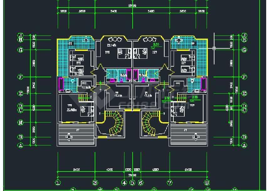 某地小型复式楼户型设计图纸(共9张)
