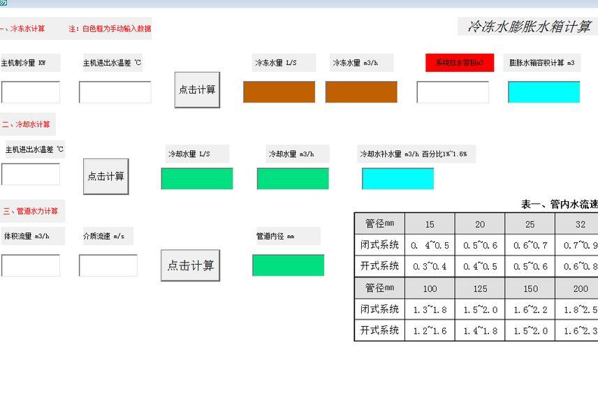 暖通空调水系统计算软件