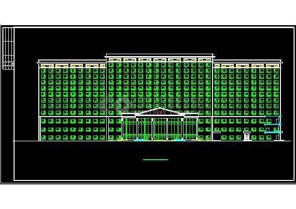 五星酒店公共建筑部分施工设计CAD方案图-图1