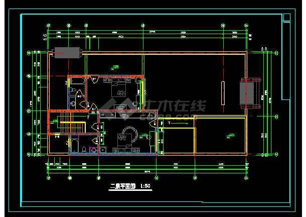 本资料为:某二层北方四合院建筑cad设计图,内容包括:一层平面图,二