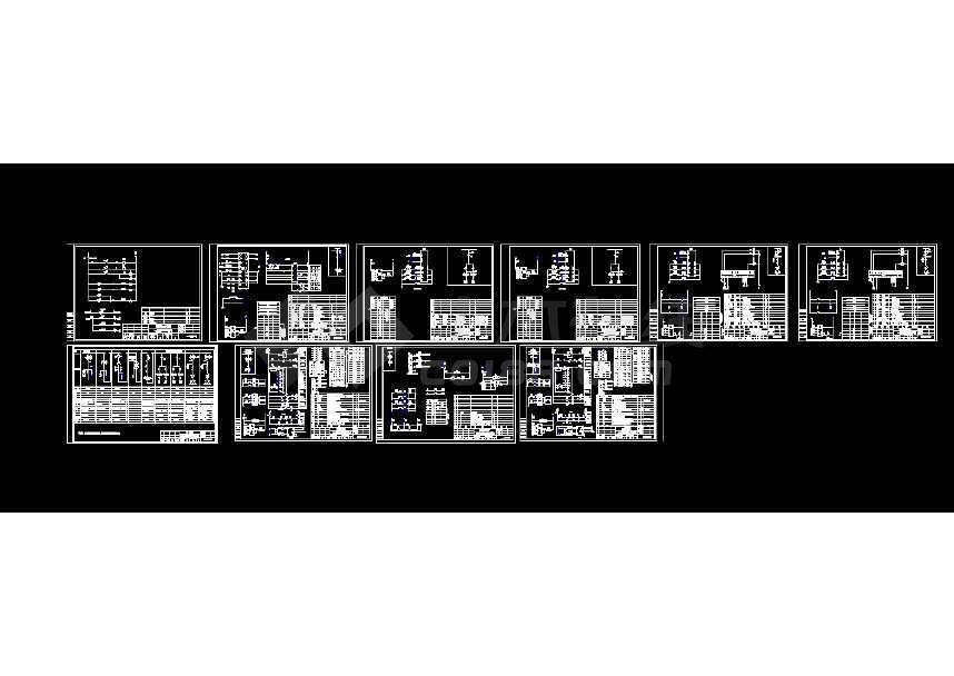 某露天v露天阳台1600KVA别墅箱变cad电气带图纸港口二层工程图纸建房说图片