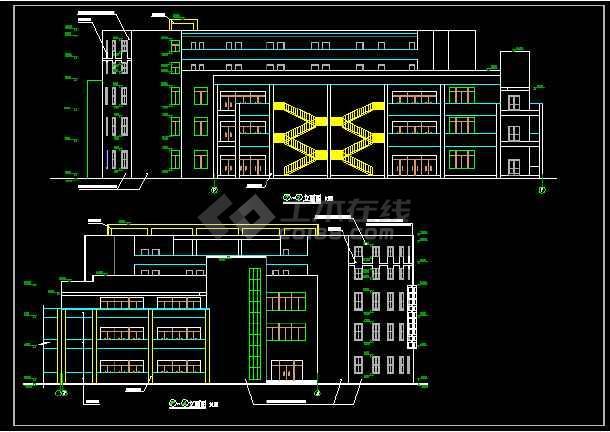 某学校食堂建筑cad施工方案设计图_cad图纸下载-土木
