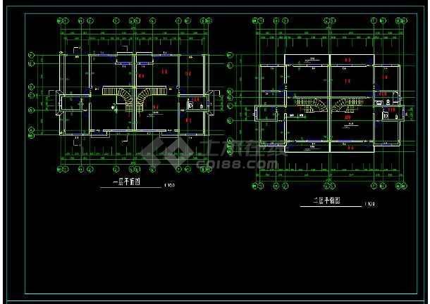 某住宅项目两套多层别墅建筑设计方案cad图集-图3
