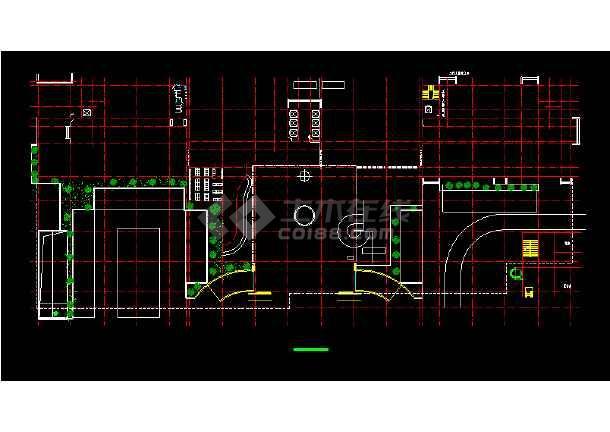 五星酒店公共建筑施工设计CAD方案图-图1