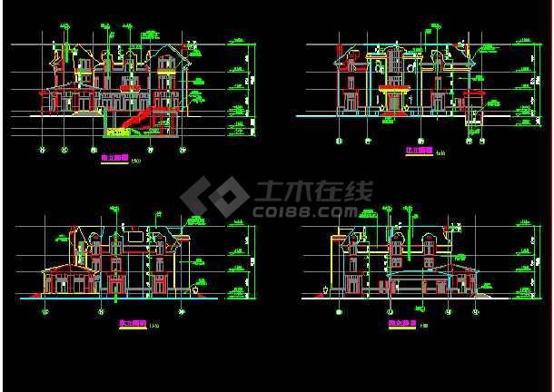 某英式别墅石材建筑设计CAD整套图cad神台怎么画图片