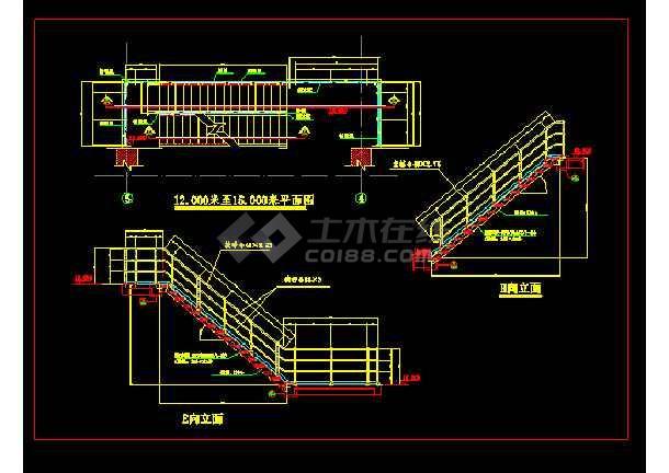 球接栏杆建筑cad设计详细标准图集-图3