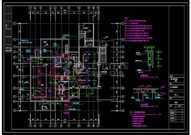 某小区多层别墅建筑暖通空调设计cad施工图(含设计说明)-图2