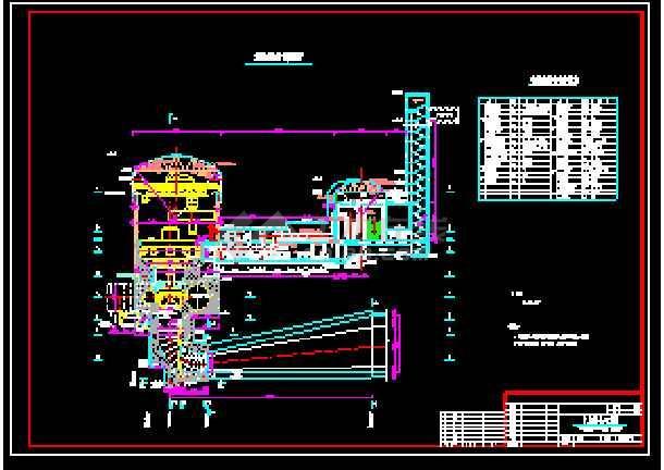 技术施工厂房cad综合平面设计方案图-图1