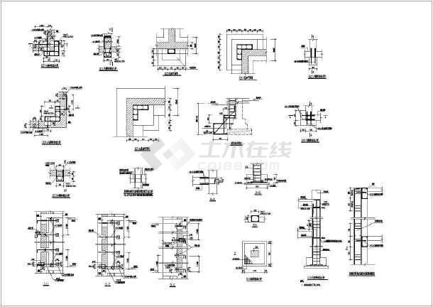 某四层砖混结构中学高中楼抗震加固改造CAD图纸-图1