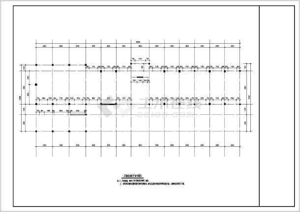 某四层砖混结构中学高中楼抗震加固改造CAD图纸-图2
