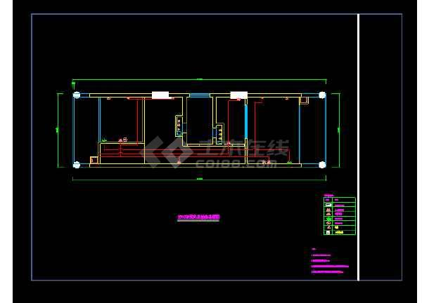 [宁波]某单身公寓室内装饰cad平立面详细施工图