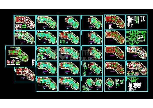 某19图纸住宅楼cad图纸v图纸层高结构多头电子秤详情图片