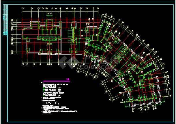 某19图纸住宅楼cad图纸v图纸详情民房92平方的层高结构图片