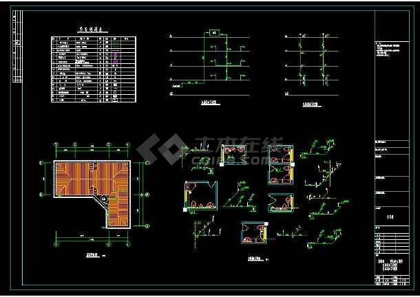 某地精品三层住宅别墅建筑给排水设计cad施工图(含设计说明)-图1