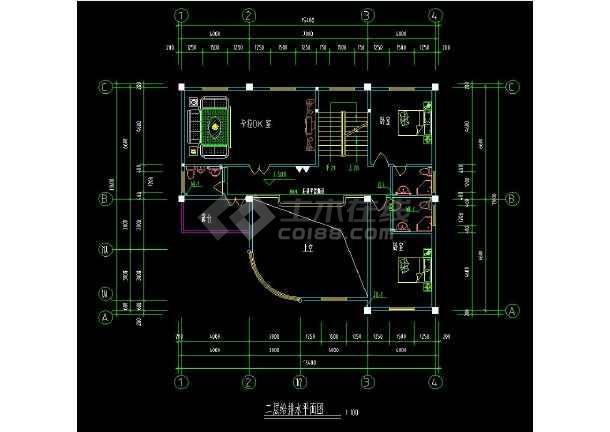 某地精品三层住宅别墅建筑给排水设计cad施工图(含设计说明)-图3