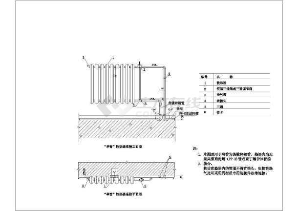 暖通大样图图集(包含散热器,地暖 ,入户计量等)-图1
