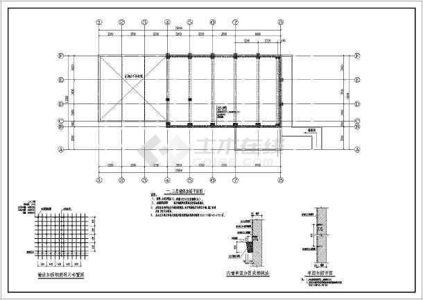 乾元镇总工会1#附属用房和库房加固设计-图2