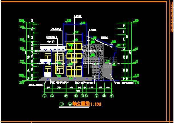 某小区别墅建筑cad平立剖面设计图
