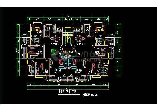 某市经典别墅户型建筑施工设计图集-图1