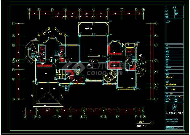 某小区多层别墅建筑给排水设计cad施工图-图1
