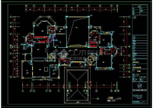 某小区多层别墅建筑给排水设计cad施工图-图2