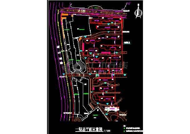 某市国贸中心一期14号楼建筑CAD设计施工图纸-图1