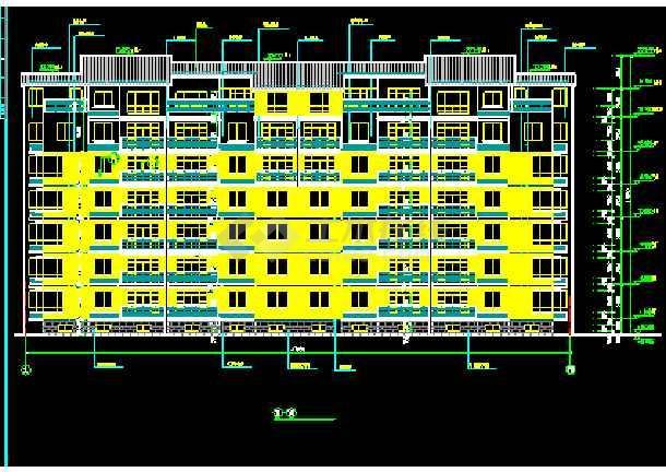 某商住楼全套建筑CAD施工设计平立面图纸-图1