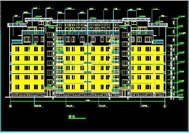 某商住楼全套建筑CAD施工设计平立面图纸-图2