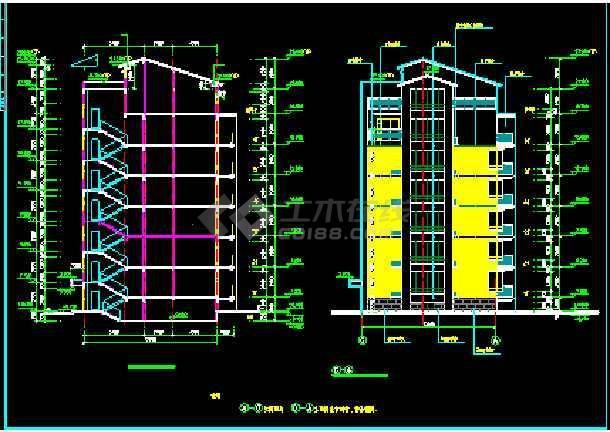 某商住楼全套建筑CAD施工设计平立面图纸-图3