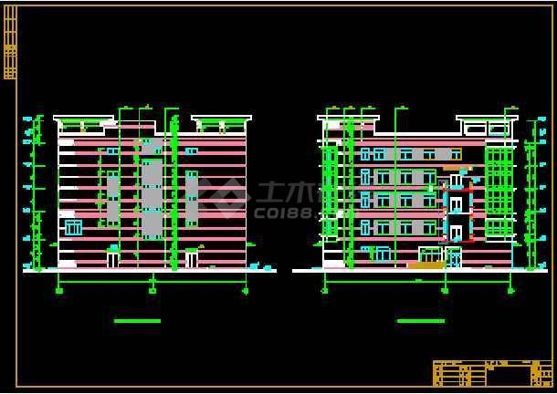 某商业综合楼建筑CAD设计施工平立面图纸-图1