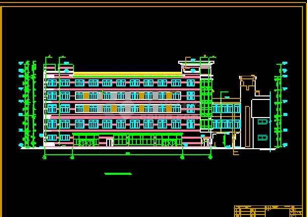 某商业综合楼建筑CAD设计施工平立面图纸-图2