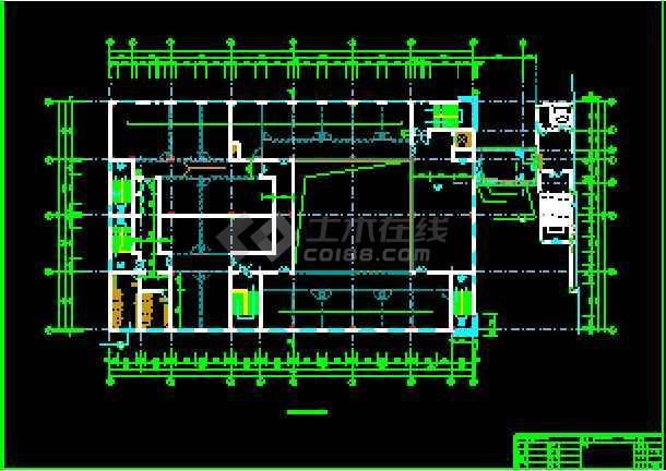 某商业综合楼建筑CAD设计施工平立面图纸-图3